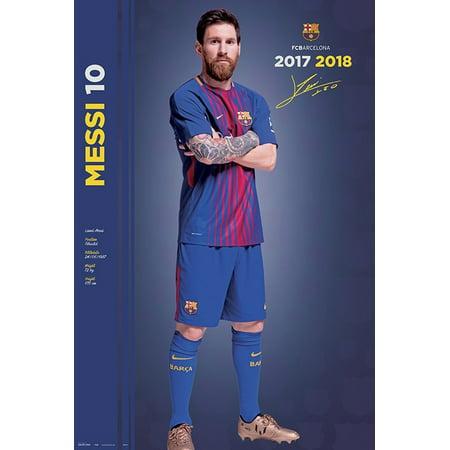 9cf3cbbb7 FC Barcelona - Soccer Poster / Print (Lionel Messi - Season 2017 / 2018 -