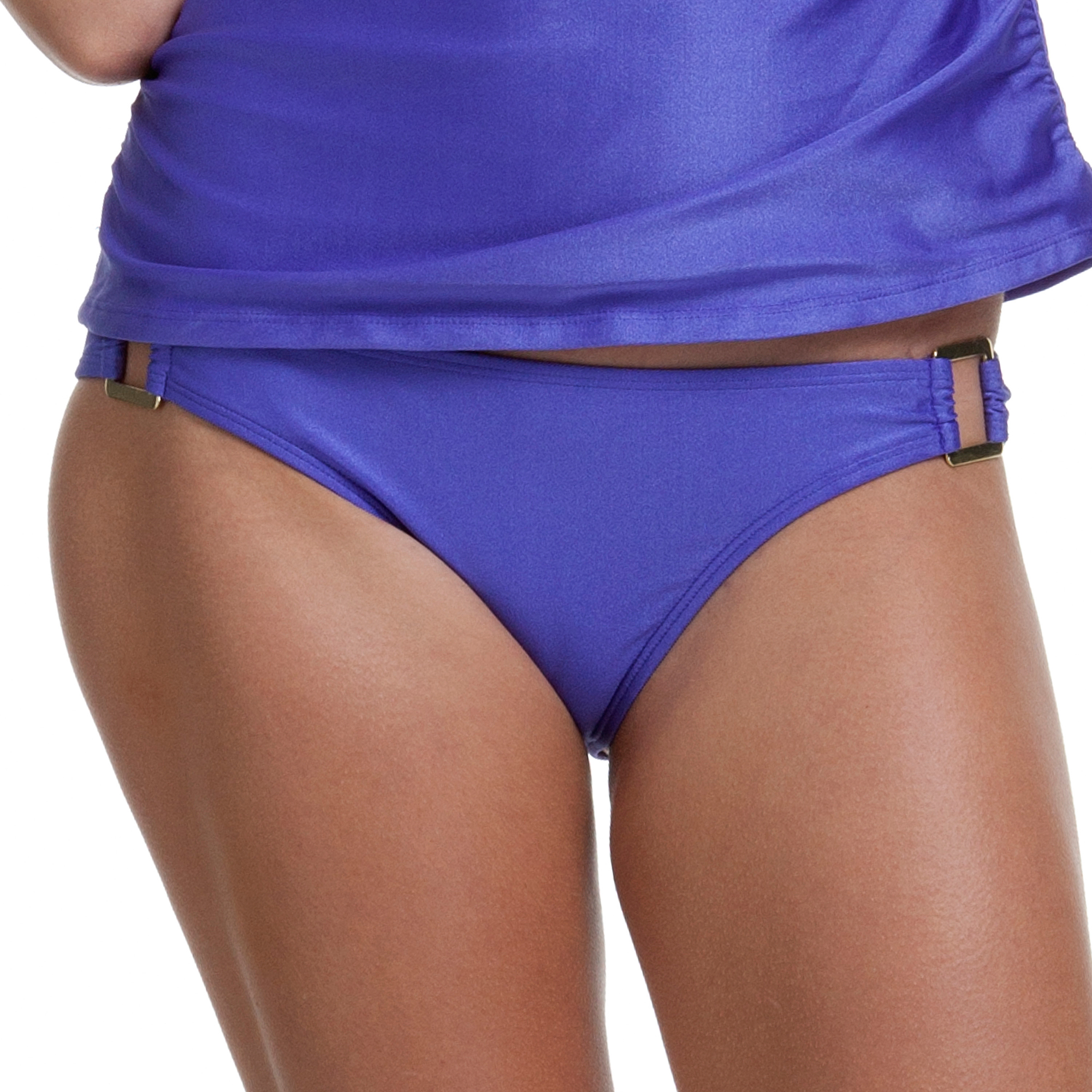 Miss America by Catalina Women's Scoop Tankini Bottom With Square Metal Accents