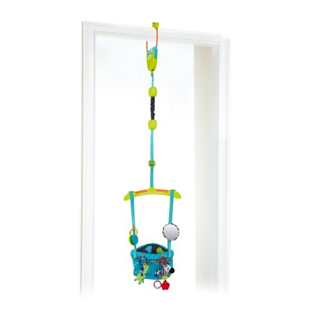 Bright Starts Bounce 'n Spring Deluxe Door Jumper with Take-Along Toys