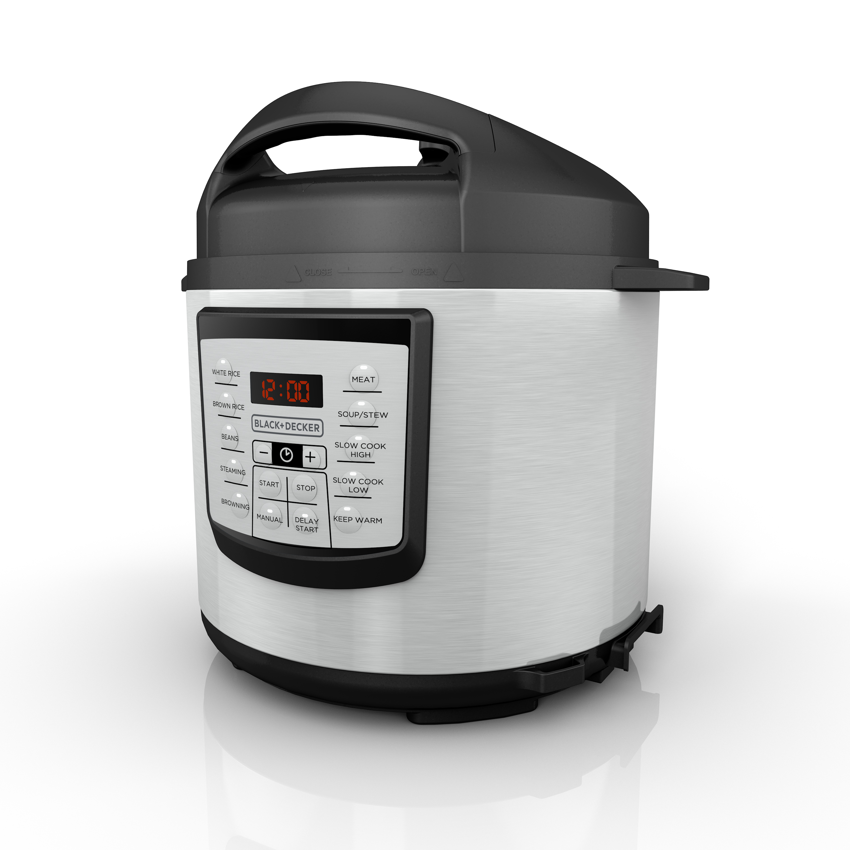 BLACK+DECKER 11-in-1 Ultimate Cooking Pot, Stainless Steel, PR100
