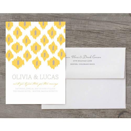 Modern Ikat Deluxe Wedding Invitation