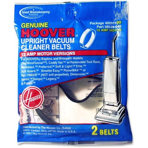 Hoover Upright Vacuum Belt - 2/Pack - Black