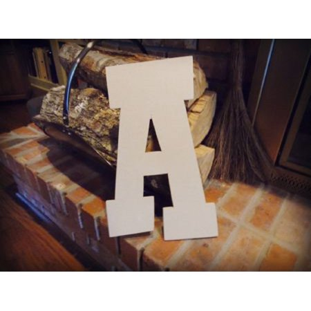 Unfinished Wooden Alphabet Letter, 12'' Rustler A,  Paintable Craft (12 Inch Wooden Letters)