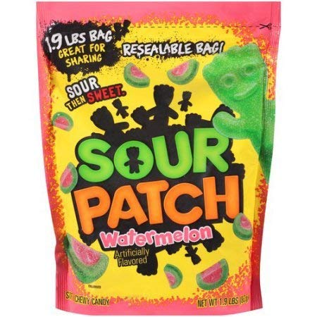 SOUR PATCH KIDS Watermelon Soft & Chewy Candy, 1.9 lb