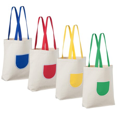 HomeGardenDiningEss - Canvas Tote Bag (4 Pack)  e2bd29c4b