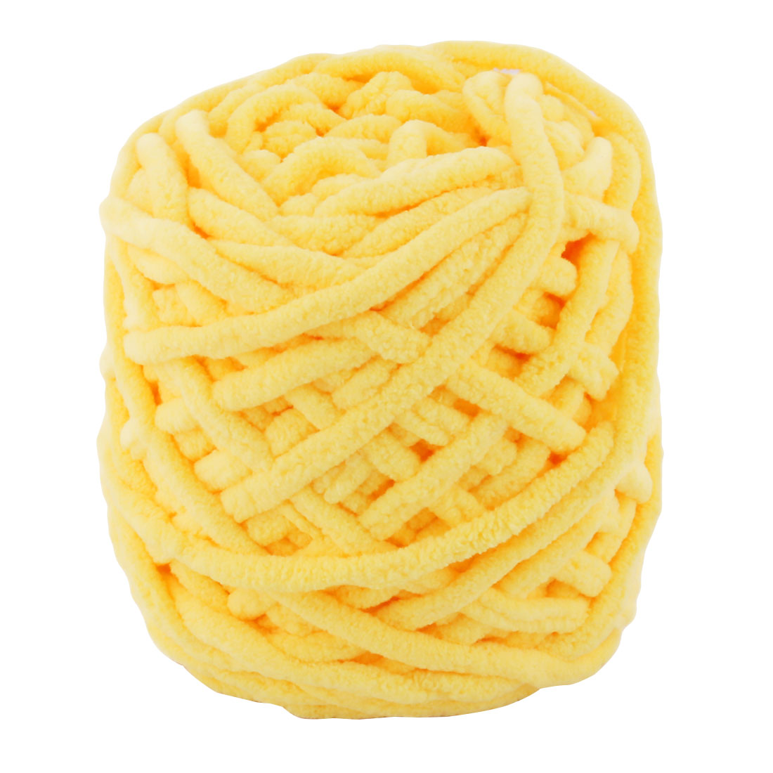 Festival Gift Polyester DIY Scarf Sweater Knitting Yarn String Yellow 90g