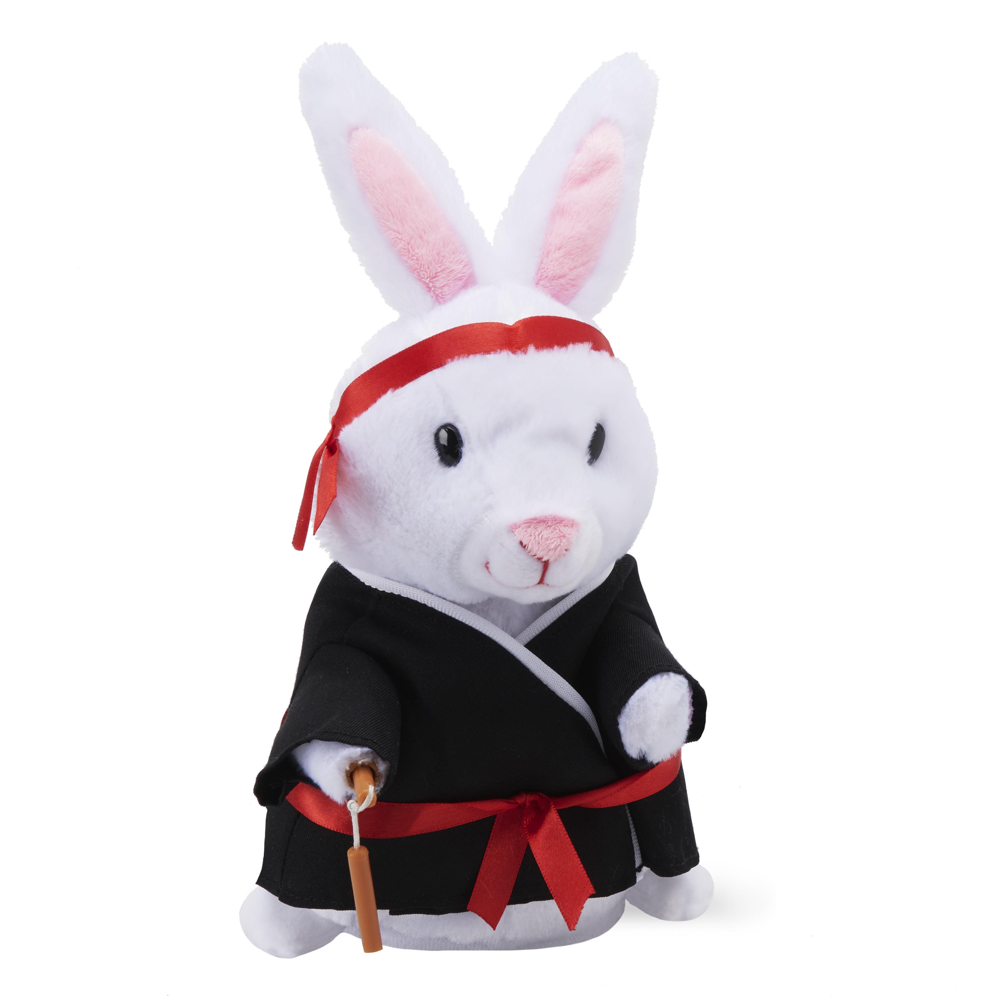 Way to Celebrate Animated Easter Kung Fu Bunny Plush