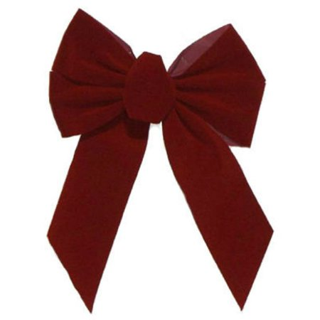 Burgundy Velvet Bow (Holiday Trim 7822 Christmas Bow, 5-Loop, Burgundy Velvet, 10 x 13 x 3-In. - Quantity)