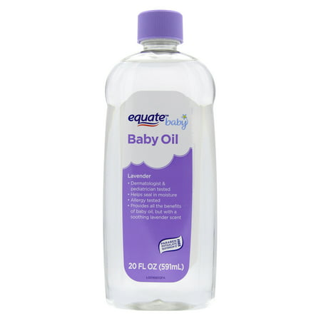 (2 Pack) Equate Baby Oil, Lavender, 20 Fl Oz ()