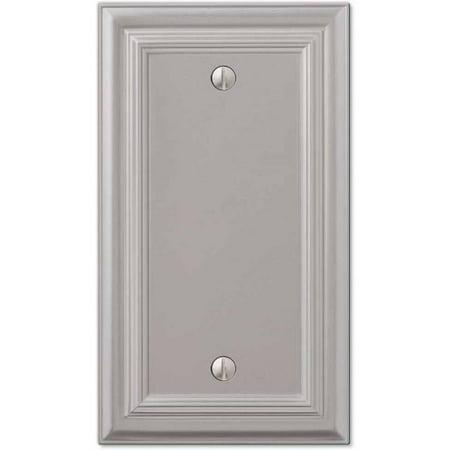 Blank Wall Plate Cover (Continental Satin Nickel Cast Single Blank Wallplate)
