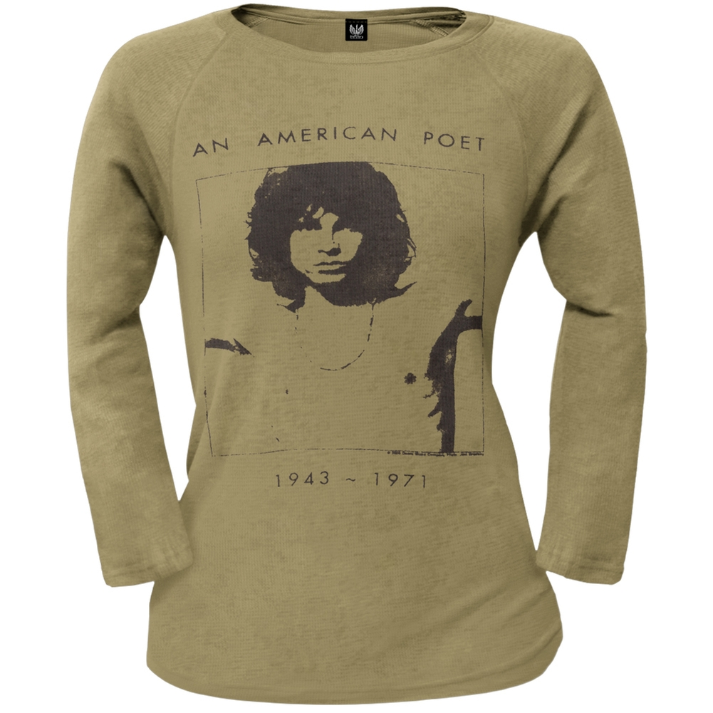 Jim Morrison - American Poet Juniors Thermal Long Sleeve T-Shirt