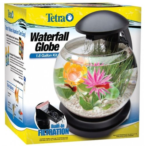 Tetra Waterfall Globe Aquarium Kit 1.8 Gallon Aquarium Kit