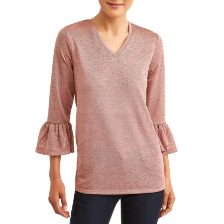 Women's Embellished Frill Sleeve (Frill Detail Blouse)