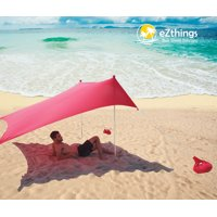 EZthings Sun shade Protection Beach Tents - Lightweight Tent Canopy with Sandbag Anchors (Royal Blue, 8.2 ft x 5 ft - 5.4 ft Tall)