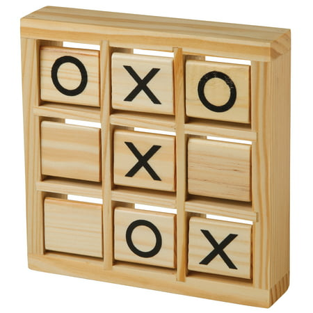 Train Tic Tac Toe (wooden travel tic tac toe game with rotating)