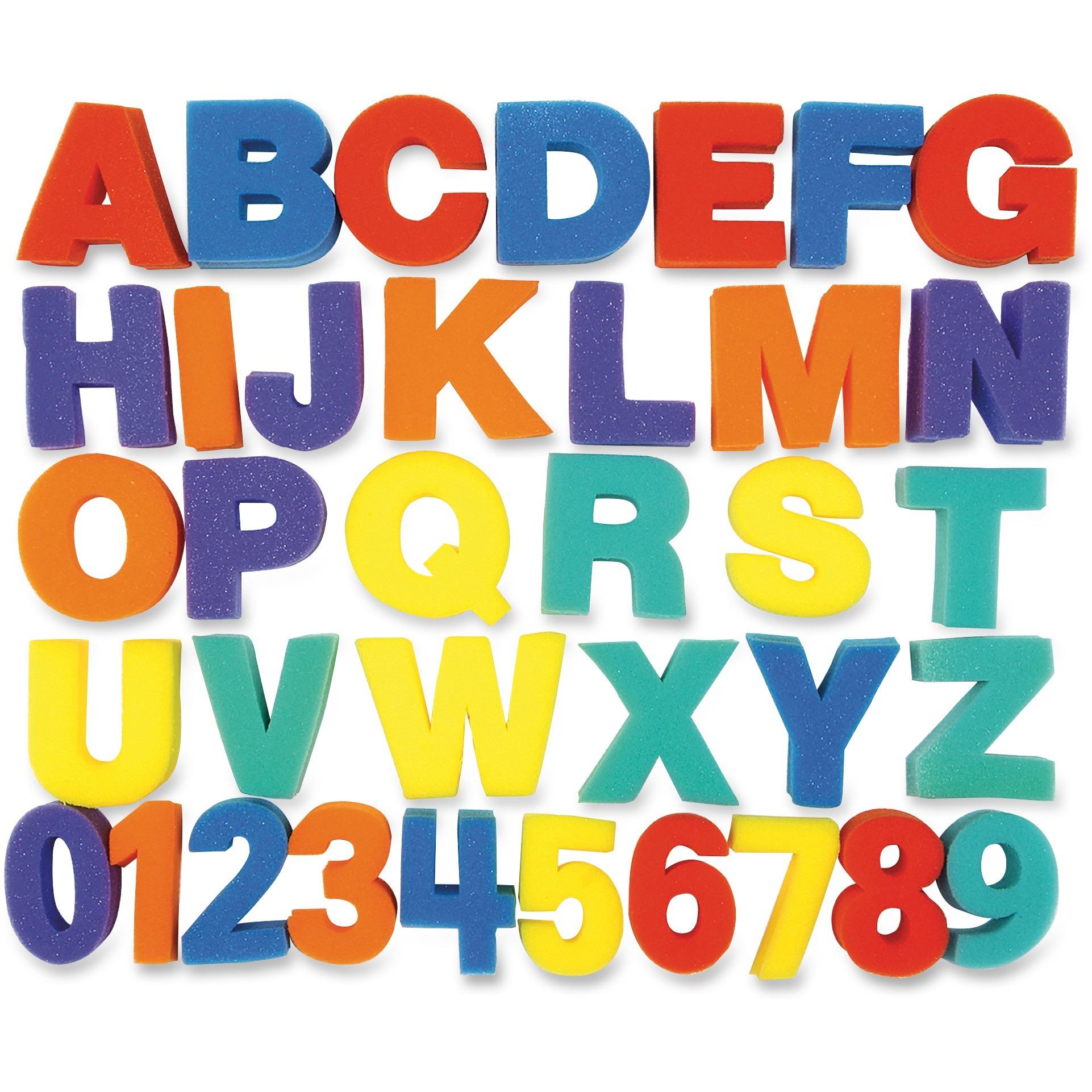 Creativity Street, CKC9079, Letters/Numbers Paint Sponges Set, 36 / Set, Assorted