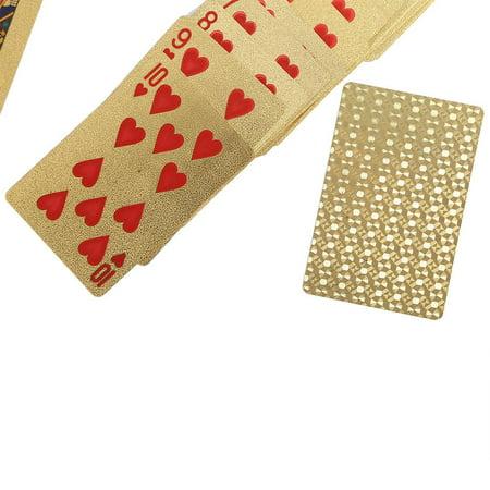 Herwey Jeu de poker enduit de jeu de tisonnier enduit de feuille d'or en plastique imperméable durable, cartes de tisonnier, cartes à jouer - image 4 de 6