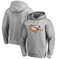 LSU Tigers Fanatics Branded Primary Team Logo Pullover Hoodie - Ash