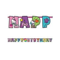 Hello Kitty Rainbow Jumbo Letter Banner Kit