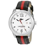 2010723 Men's Auckland Quartz White Dial Nylon and Leather Strap Watch