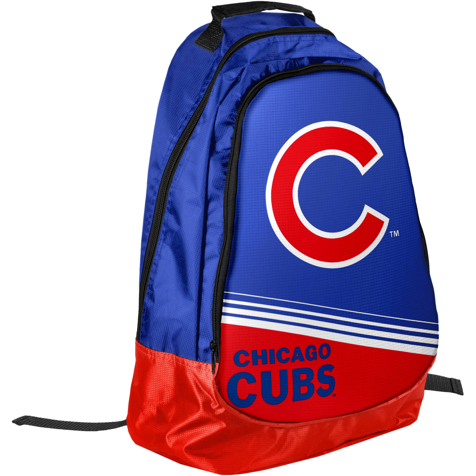 Chicago Cubs Official MLB Backpack Core Stripe Bag by Forever Collectibles 054615