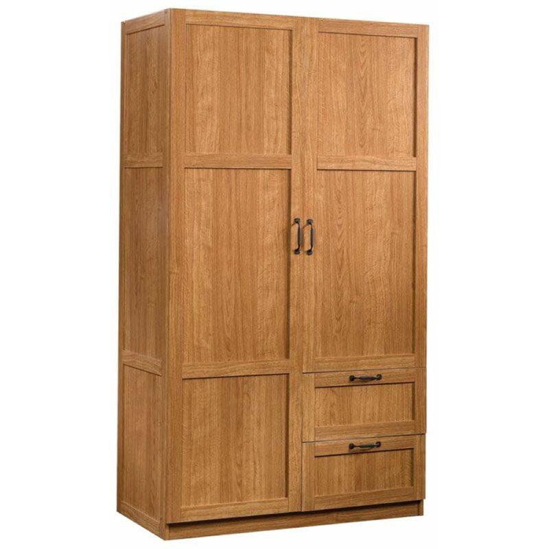 Pemberly Row Wardrobe Armoire in Highland Oak