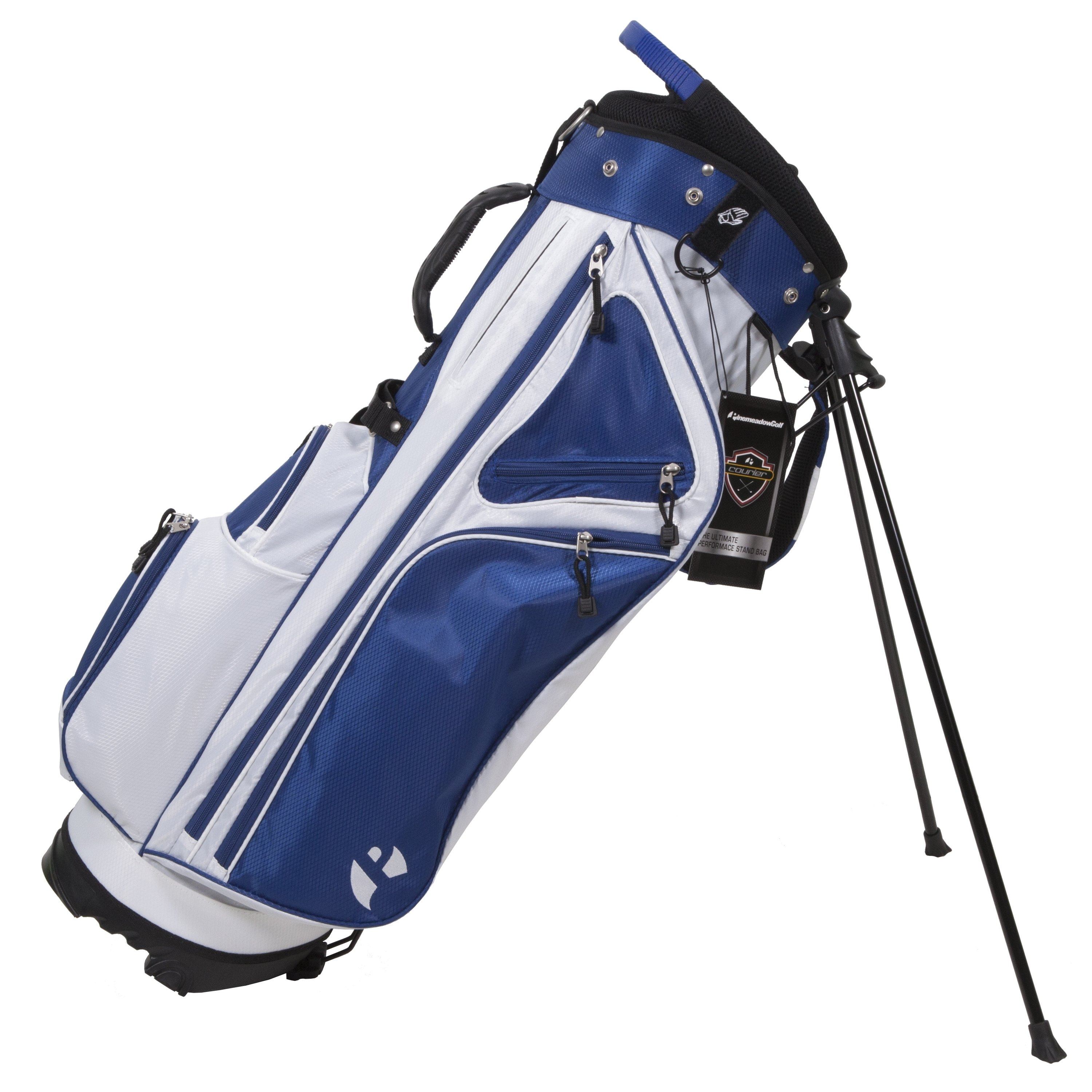 Pinemeadow Golf Courier 3.0 Stand Bag White, Blue