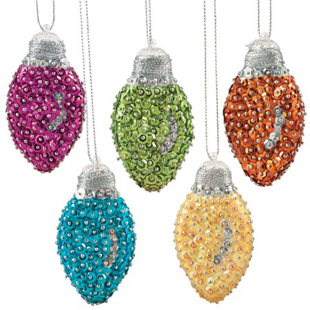 Sunrise Craft & Hobby™ Bright Holiday Bulbs Ornament Kit - Easy Holiday Crafts