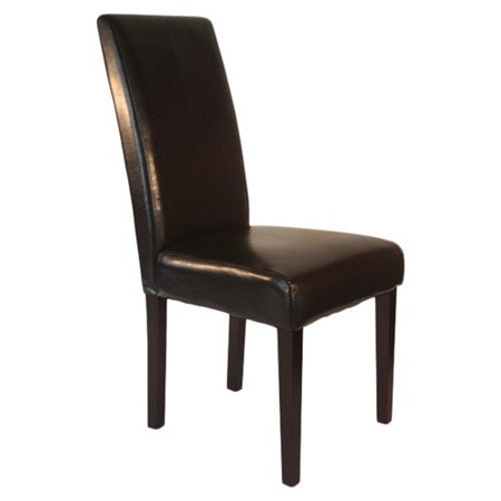 Monsoon pacific villa faux leather dining chairs brown for Faux leather dining chairs