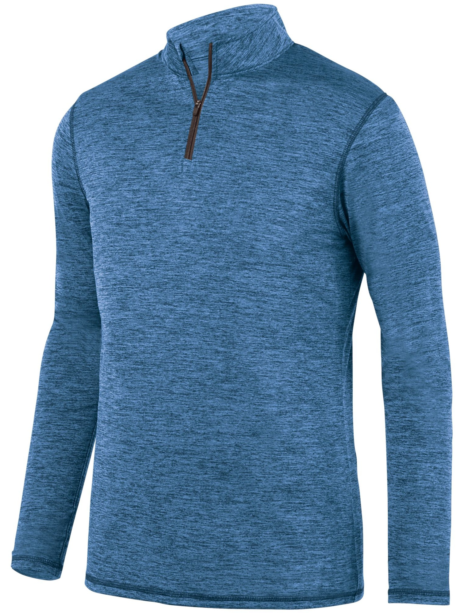 Augusta Sportswear Men's Intensify Black Heather 1/4 Zip Pullover 2955