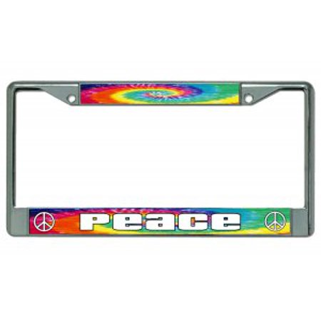 Peace Tie Dye Chrome License Plate Frame Walmart