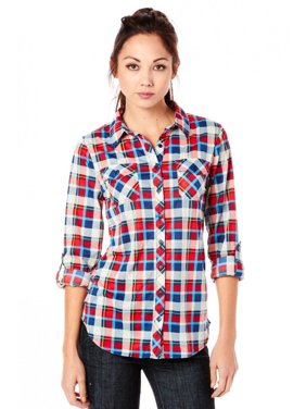 4b50d66ca2 Product Image Womens Fashion Plaid Button Roll Up Button Down Shirt B1324