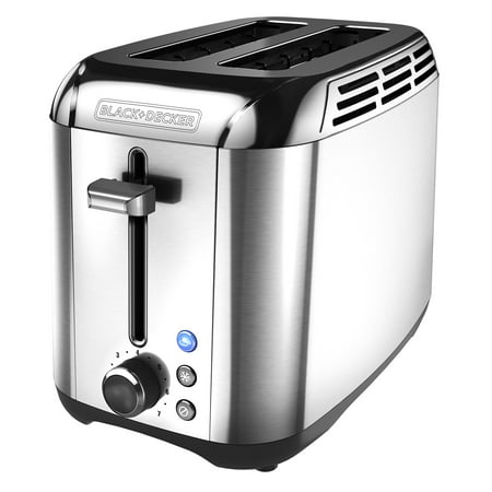 BLACK+DECKER Rapid Toast 2-Slice Toaster, Stainless Steel,