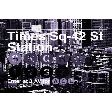 Subway and City Art - Times Square - 42 Street Station Print Wall Art By Philippe