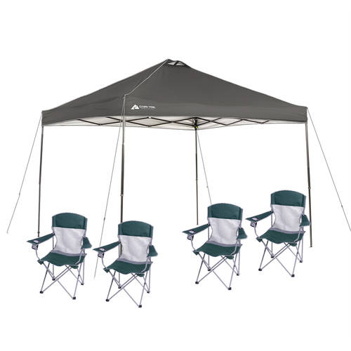 Ozark Trail 10x10 Canopy with 4 Basic Mesh Chairs Value Bundle - Walmart.com  sc 1 st  Walmart & Ozark Trail 10x10 Canopy with 4 Basic Mesh Chairs Value Bundle ...