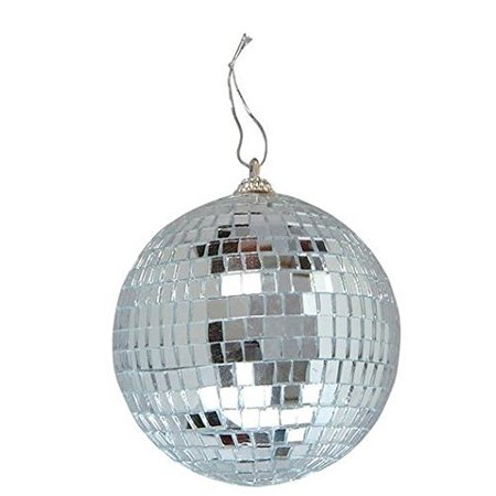 Mirror Disco Ball - 4-Inch Cool and Fun Silver Hanging Party Disco Ball – Party decorations, Party Design, Dance and Music festivals- By Kidsco for $<!---->