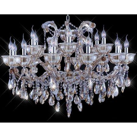 Artistry Lighting Tiffany-style Collection K100355D-3724 Goldtone Crystal Candelabra Chandelier - Honey