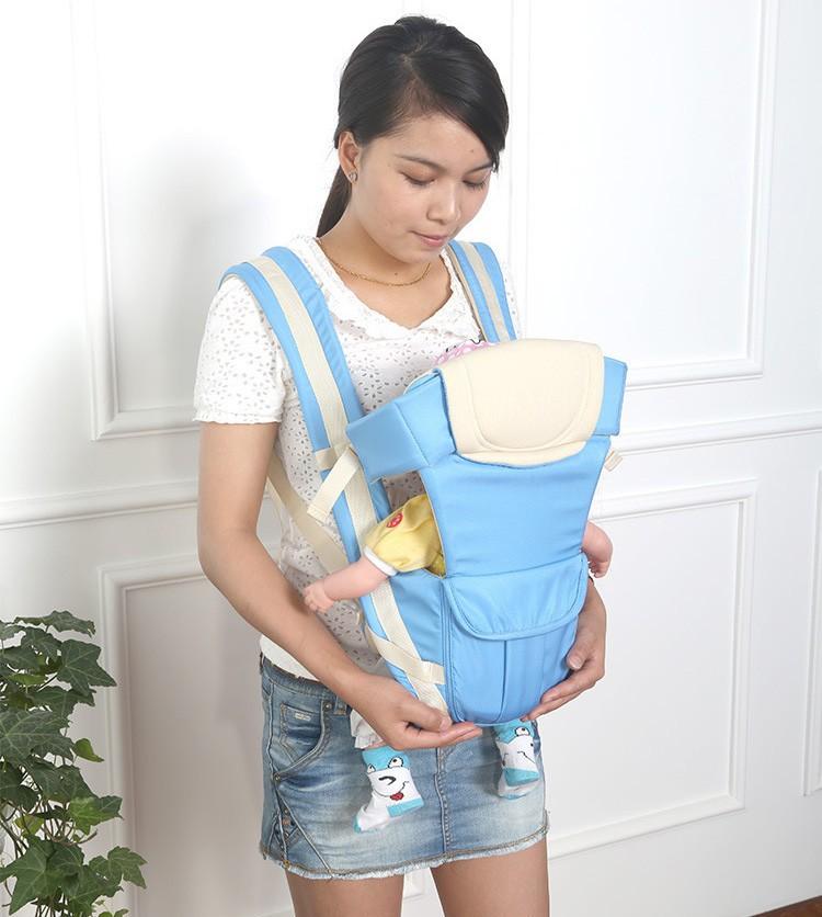 Cotton Baby Sling Backpack Shoulder Hip Seat Infant Kanga...