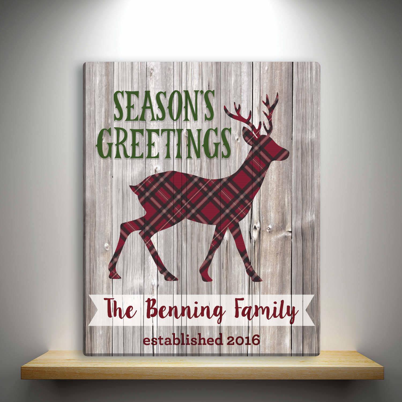 Amanda McGee Personalized Season's Greetings Canvas, 16x20