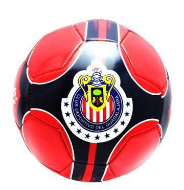 Chivas De Guadalajara Soccer Ball Size 5 (Red Black), Size 5 By Rhinox by