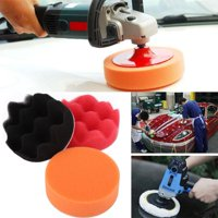 YLSHRF Car Polishing Pads,Polishing Pad,12Pcs 3 Inch Sponge Buffing Polishing Pad Kit for Car Polisher with Drill Adapter
