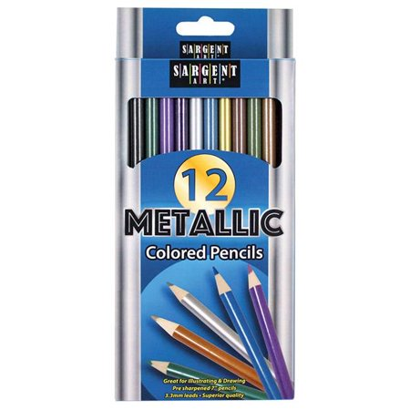Sargent Art SAR227231 Metallic Colored Pencils - Metallic Colored Pencils