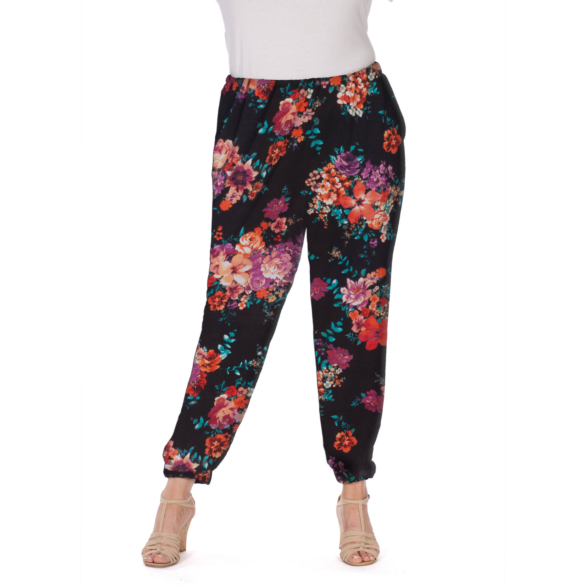 Plus Moda Women's Plus-Size Garden Party elastic cuff pant