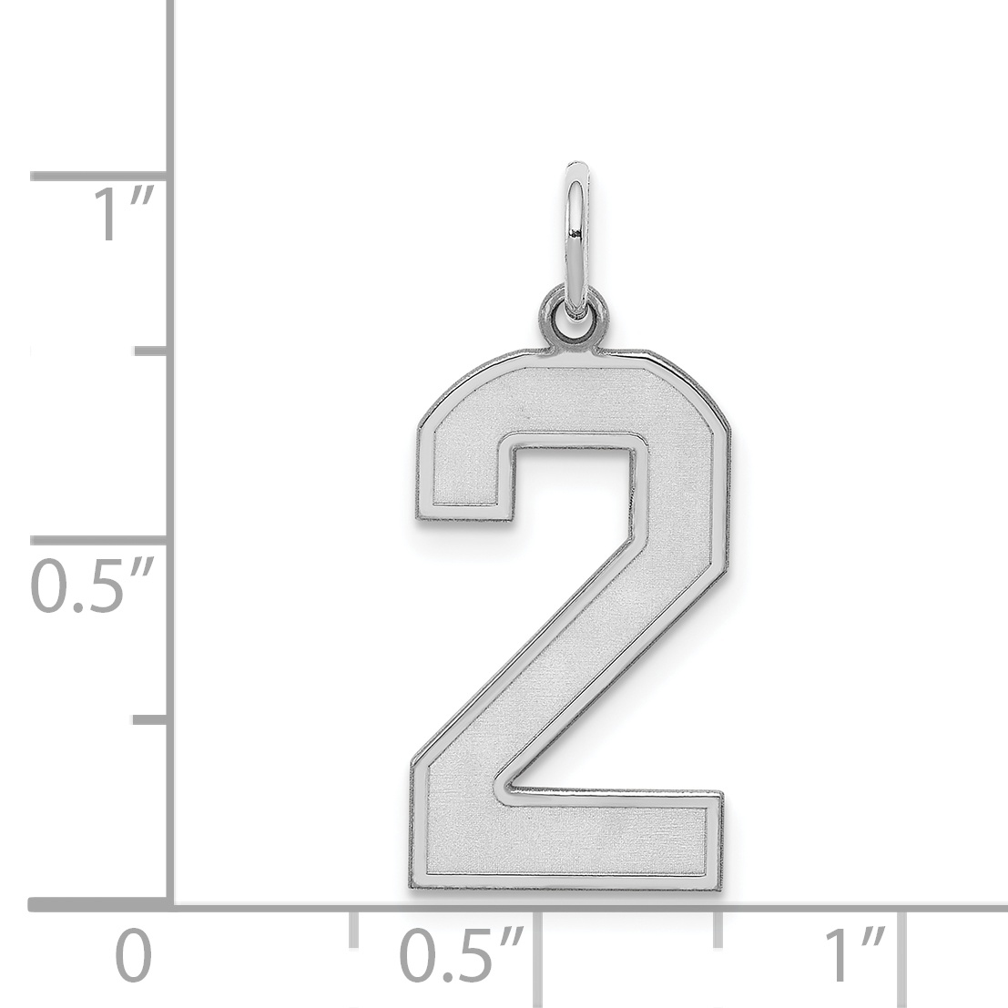 925 Sterling Silver Large Number 2 Pendant Charm Necklace Sport Laser Etched Fine Jewelry Gifts For Women For Her - image 1 of 2
