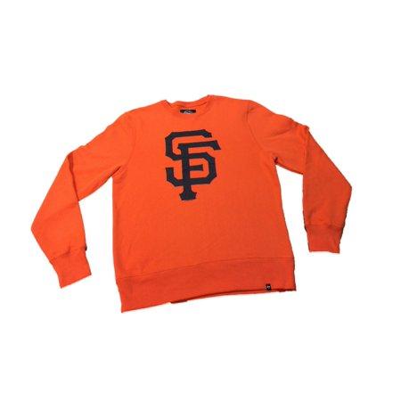 San Francisco Giants 47 Brand Orange Long Sleeve Crew Pullover Sweatshirt (M) by