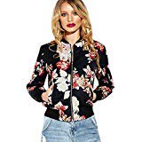 Tsmile Women Coat Clearance Autumn Winter Printed Casual Jacket Overcoat Tops Baseball Outwear