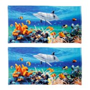 Kaufman Dolphin Coral Reef Beach Towel (Set of 2)