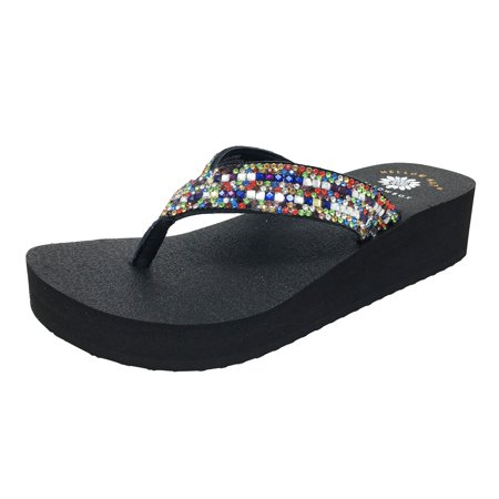 1c6a2d739291 Yellow Box - Yellow Box Women s Katie Multi Stones Flip Flops 33594 -  Walmart.com
