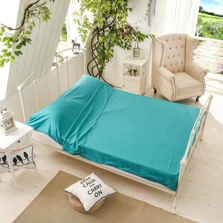 - Eleoption Portable Sleeping Bag Silk Liner, Ultra-light Compact Large Sleeping Bag Sack Inner Sheet Sleep Bag Liner for Travel, Youth Hostels, Picnic, Trains, Outdoor