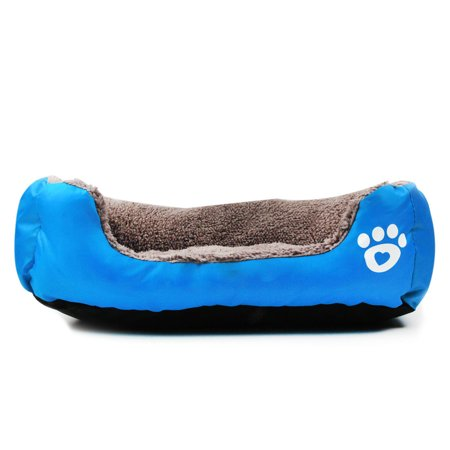 Soft Pet Dog Cat Bed Puppy Warm Mat Cushion House Pad Kennel Blue,